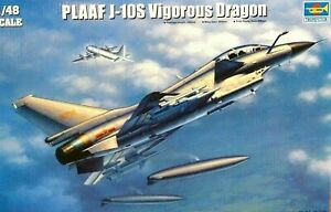 Trumpeter 1:48 J-10S vigoureux Dragon AIRCRAFT MODEL KIT