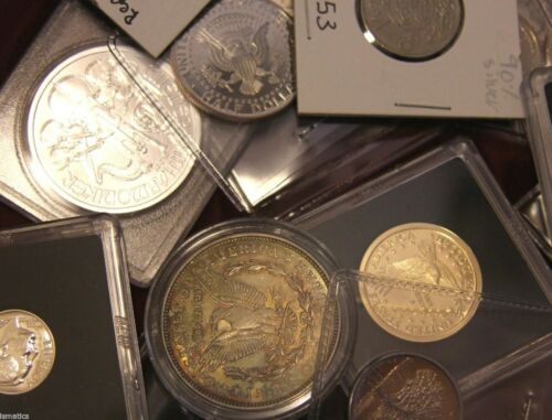 US /& World Coins Estate Sale Lot ☆ SILVER BARS PROOFS CURRENCY KEYDATES ERRORS