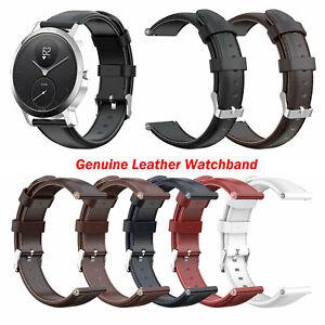 Echtes-Leder-Armband-Uhrenarmband-Gurt-Ersatzteil-fuer-Nokia-STEEL-HR-36MM-40MM