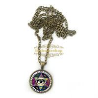 ouija board illuminati psychic palm reader wisdom eye pentagram necklace jewelr