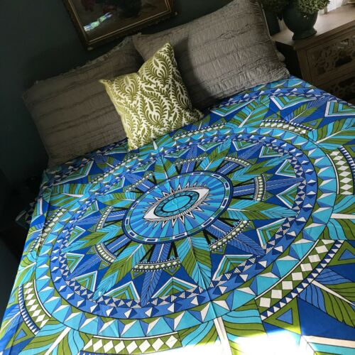 Queen Sized Mandala Bed Cover Dorm Room Wall Hanging. Indian Mandala Tapestry