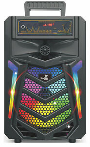 bluetooth speaker SkyCube 6000watt P.m.p.o Microphone Rechargeable Remote USB Tf