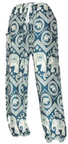 Harem Pants Baggy Trousers Boho Hippie Festival Thai Elephants Aladdin Unisex
