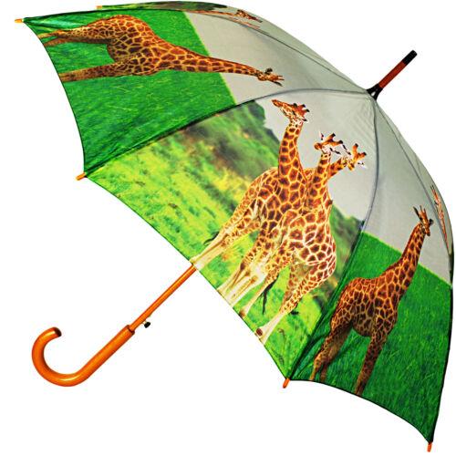 """AUTOMATIK Ø 100 cm // Kinder /& Zootier /"""" /"""" Giraffe großer XL Regenschirm"""