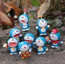 8pcs Doraemon Treasure Chest MINI PVC Action Figure Dolls Toy Birthday Present