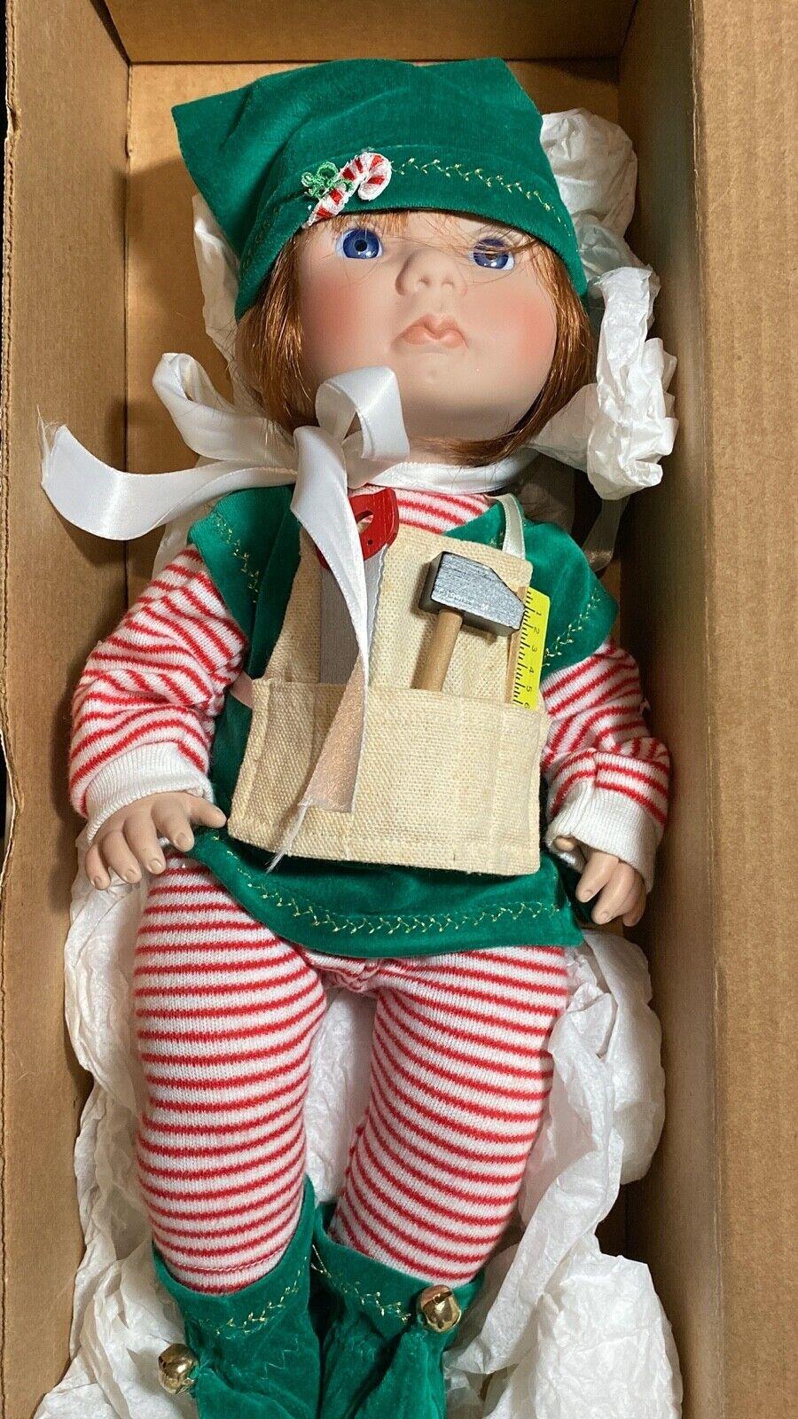 VTG. Lee Middleton Dolls Original Christmas Angel Elf  1990 Num.4,952 Of 5,000