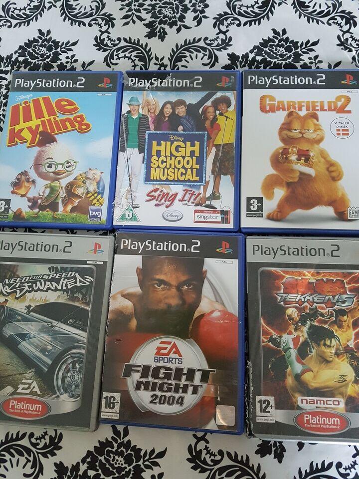 14 seje ps2 spil 35-60kr pr stk., PS2, anden genre