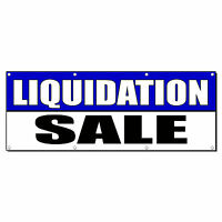 Liquidation Sale Promotion Business Sign Banner 2' X 4' W/ 4 Grommets