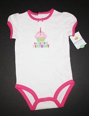 New Carter/'s 1st Birthday Bodysuit NWT 12m 18m White Girl Short Sleeve Top