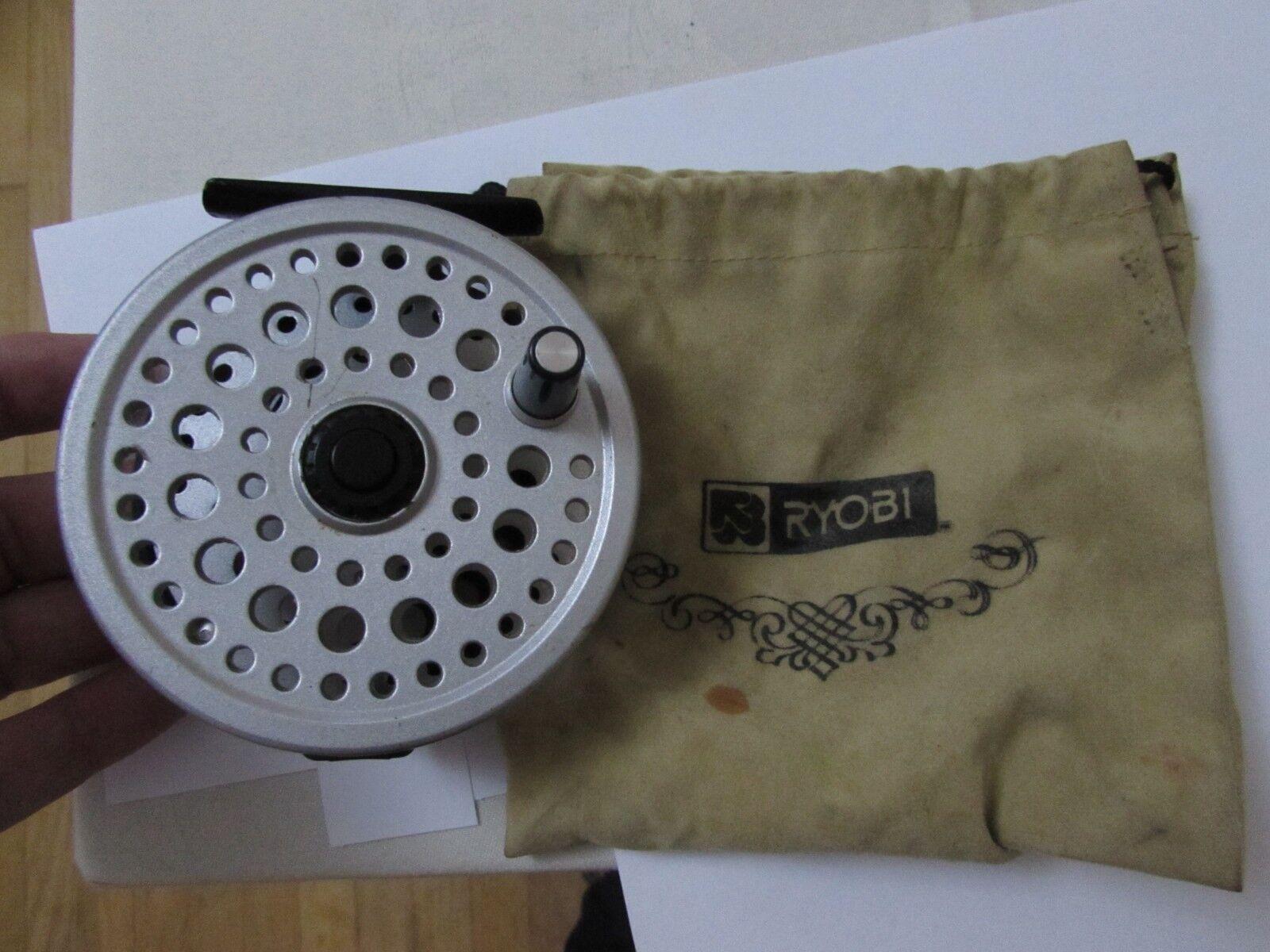 V good vintage ryobi 357 MG 357MG magnesium super light trout Fliegen fishing reel ,