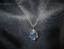 thumbnail 5 - Druzy Quartz Blue Crystal Teardrop Gold Plated Pendant goldplated chain Magical!