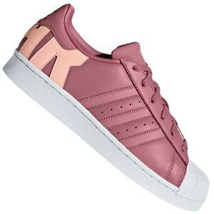Detalles acerca de Adidas Originales Superstar Para mujeres Tenis  Zapatillas Super & Star Logo Rosa- mostrar título original