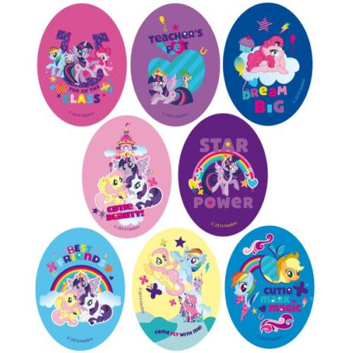 My Little Pony Oval Patches Woven Iron on Motif Applique