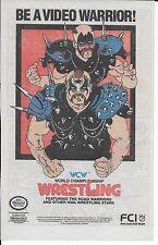Vintage 1989 WCW World Championship Wrestling NWA Nintendo NES game Ad FCI RARE