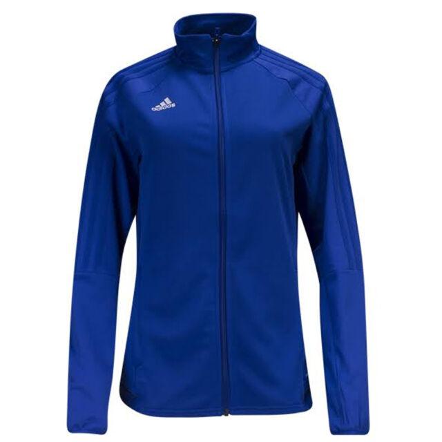 604acbeb961d adidas Women s Tiro 17 Training Jacket Bold Blue Black White BQ8245