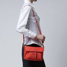 NWT❤️Authentic TORY BURCH Scout Nylon Crossbody Bag Samba Red Orange Coral FREE