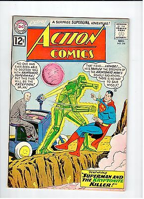 DC ACTION COMICS #294 Superman 1962 FN/VF Vintage Comic | eBay