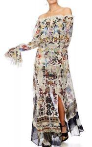 Camilla-Franks-Raise-Your-Glass-Drop-Shoulder-Split-Dress-XS-LAYBUY-AVAILABLE