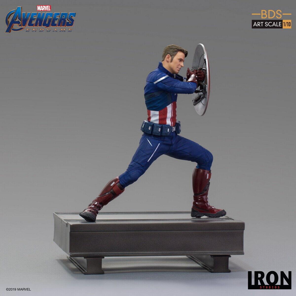 Iron Studios MARCAS 24819-10 1 10 Capitán América 2023 Vengadores  Tacho Estatua