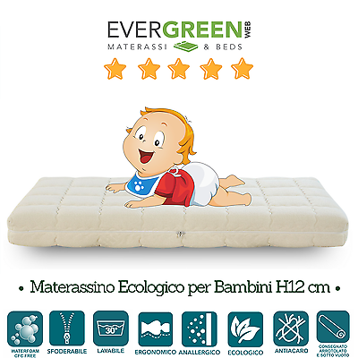 Evergreenweb Materasso Waterfoam Indeformabile Per Bimbo H12 - Ever Eco Baby