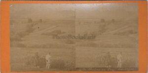 Catenina Dei Puys Auvergne Francia Foto Stereo Vintage Albumina c1890