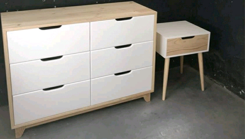 Chest of drawers and pedestal chairs kitchen counter t