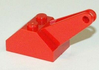 Lego Red Hook Slope 45 2 x 3 x 1 1//3 Double with Arm and Light Gray Tow Hook