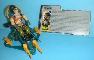 Lot-1987-GI-Joe-Cobra-Figure-Zanzibar-Dreadnok-Pirate-amp-Air-Skiff-w-File-Card