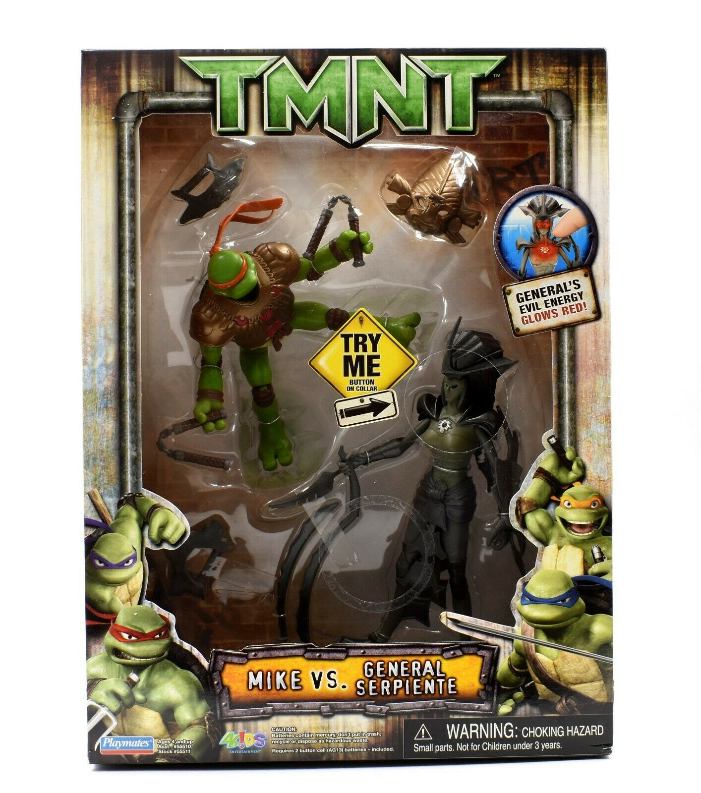 Teenage Mutant Ninja Turtles TMNT Movie - Mike vs. General Serpiente Figure Set