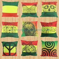 Us Seller - Wholesale 9pcs Rasta Reggae Cushion Cover Patio Cushion Covers