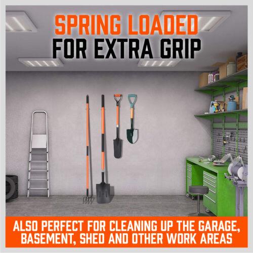 Garden Tool Organizer 10 Pack Shovel Broom Mop Holder Wall Mount Spring Grip H-D