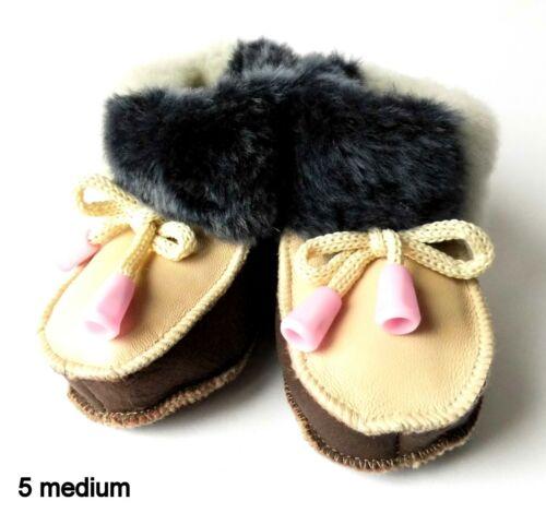 2 years Newborn Girls Baby GENUINE SHEEPSKIN Leather Slippers Boots Boys