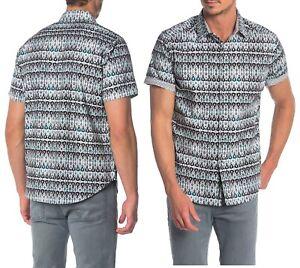 Robert Graham Mens Short Sleeve Gernway Abstract Patterned Shirt Classic Fit