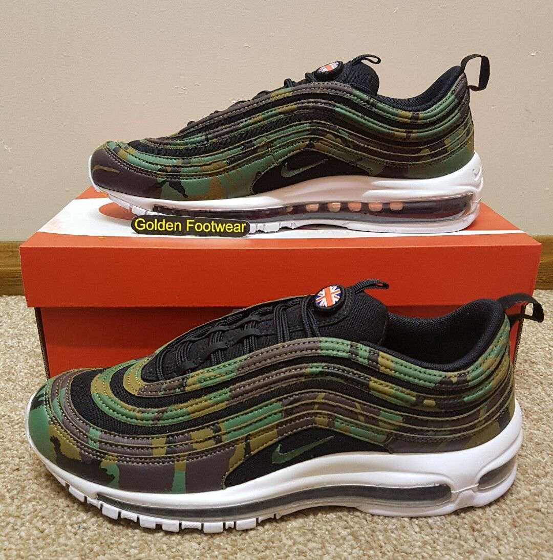 Nike Air Max 97 Premium QS Camo UK Country Pack Größe 8 UK Genuine Authentic   Herren