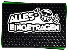 2JDM OEM Aufkleber Alles eingetragen TÜV Sticker Shocker Tuning Folie Decal weiß