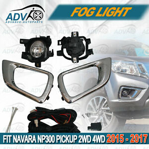 Driving-Fog-Lights-Lamps-Complete-Kit-fit-for-Nissan-Navara-NP300-2015-2017