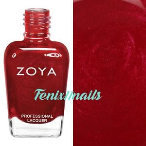 Details about ZOYA ZP632 ELISA bright, metallic medium crimson holiday red  nail polish lacquer