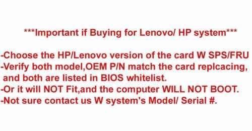 New Dell OEM DW1708 WC50G Broadcom BCM943142Y 802.11bgn BT 4 NGFF M.2 Mini