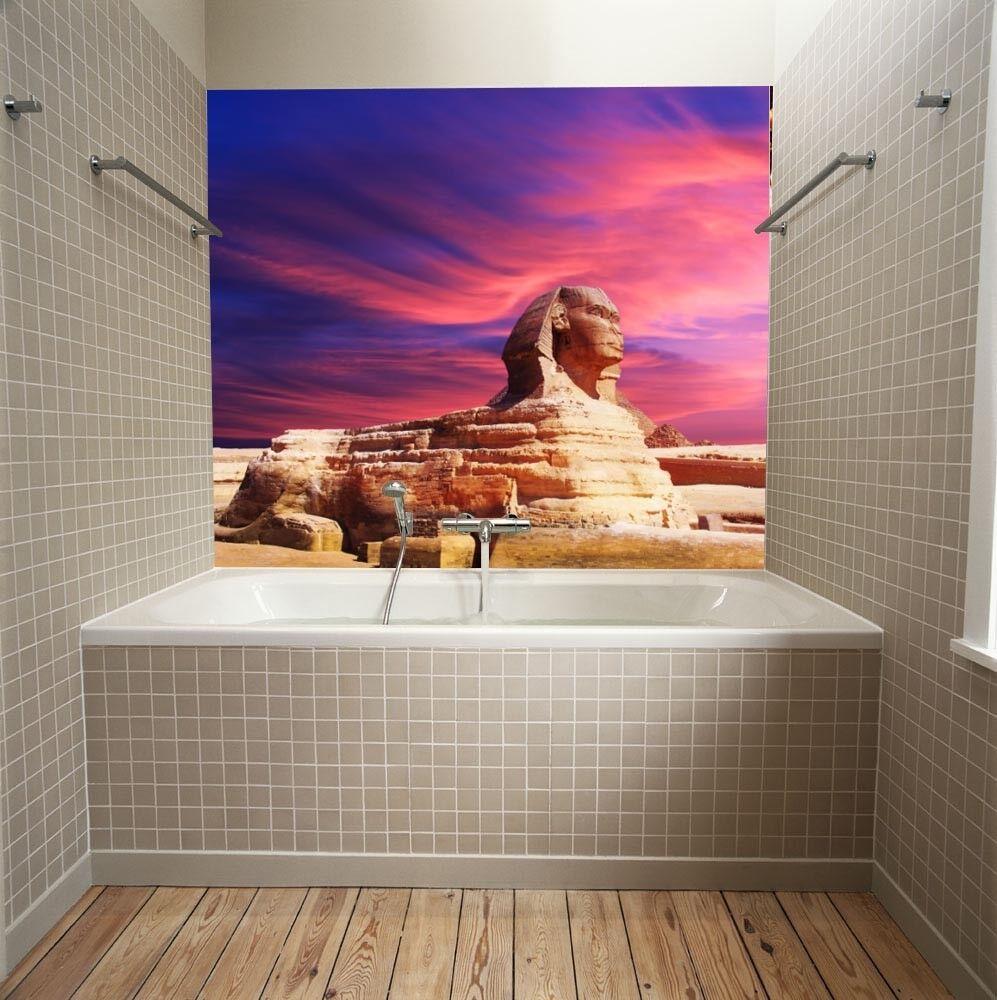 3d Sphinx violet Sky 7 Wallpaper Mural Wallpaper Wallpaper Picture Family De été