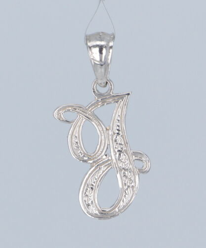 14k Gold Initial Letter P Charm Pendant Alphabet A-Z in Yellow or White Gold