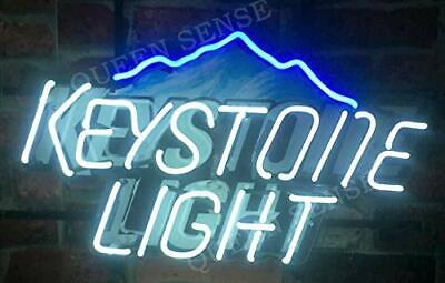 """New Keystone Light Beer Neon Sign 20/"""" With HD Vivid Printing Technology"""