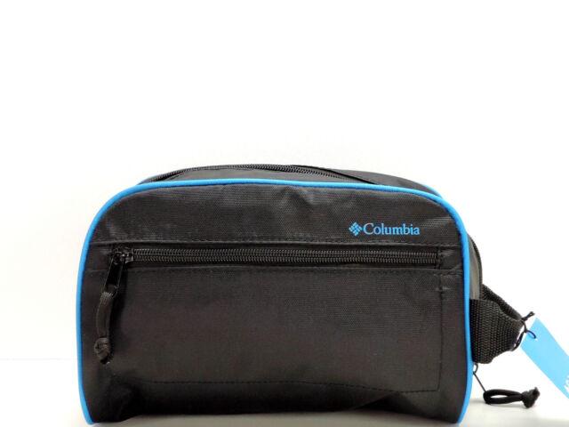 Columbia Men s Zip Travel Kit Black Dopp Shaving Toiletry Case Bag New! a3db33fc33e05