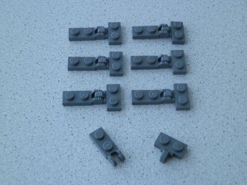 Lego 44302+44567# 7x Scharnier 1x2-1x2 grau neu dunkelgrau
