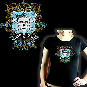 * Rockabilly Gothic Tattoo Punk Totenkopf Biker Damen Girl Shirt *1015