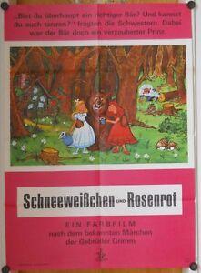 SCHNEEWEISSCHEN-UND-ROSENROT-WA-Kinoplakat-Filmplakat-039-60er-MARCHEN