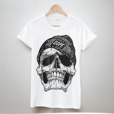 DOPE SKULL TSHIRT HYPE HIPSTER SWAG MENS URBAN FASHION OUTFITTERS