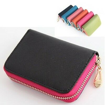 Women Card Wallet Women Coin Wallet Single Zipper Wallet Saffiano Leather G0713