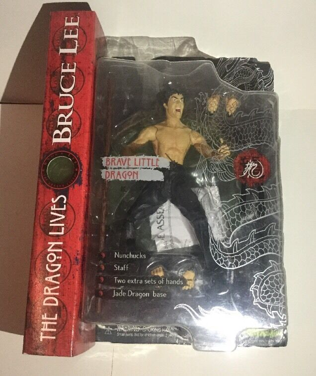 Rare Bruce Lee Action Figure Figure Figure Brave Little Dragon By Art Asylum Toy 391222