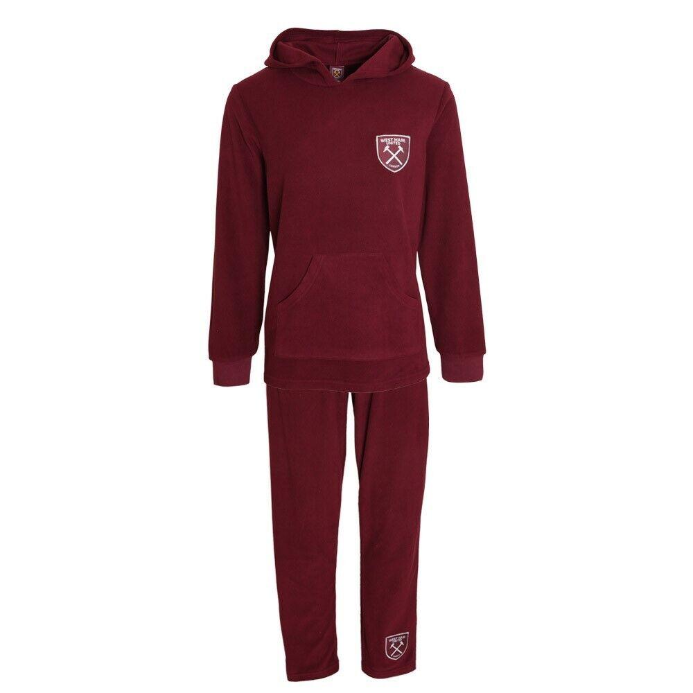 Nouveau Officiel West Ham Utd Femme Doux Chaud Bordeaux à Manches Longues/jambe Pyjamas Pjs 12