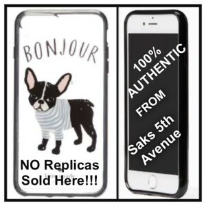 finest selection 11202 14378 Details about NIB Kate Spade Bonjour FRENCH BULLDOG Antoine IPhone 6 7 8  Cell Phone Case Cover